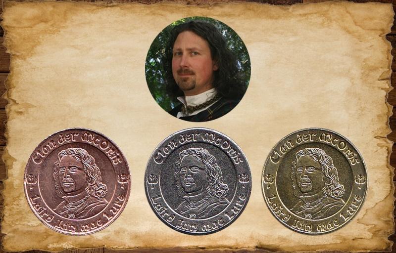 Individuelle Münzen* aus dem McOnis Handelskontor - Made in Germany - Beispiel der Umsetzung eines Portraits in eine Münze.