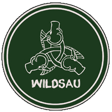 Aufnäher 7cm Wildsau grasgrn-grau
