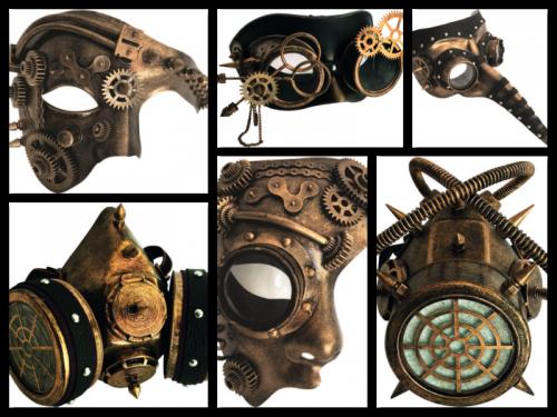 VG Steampunk-Masken